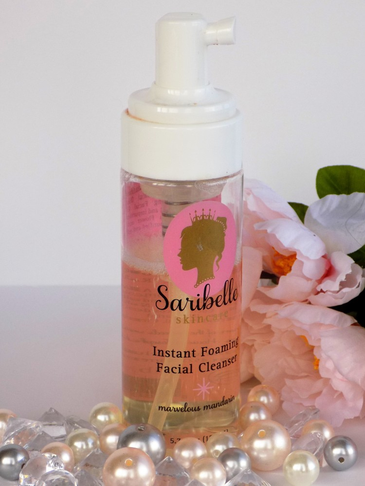 saribelle skincare instant foaming facial cleanser natural face cleanser
